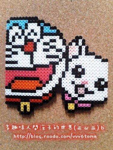 Doraemon Perler Beads by Ryoko
