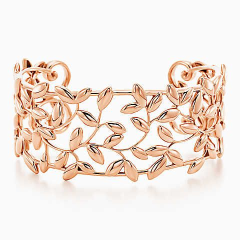 Paloma Picasso® Olive Leaf cuff in 18k rose gold, small.