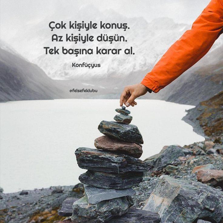 Çok kişiyle konuş. Az kişiyle düşün. Tek başına karar ver. - Konfüçyus #sözler #anlamlısözler #güzelsözler #manalısözler #özlüsözler #alıntı #alıntılar #alıntıdır #alıntısözler #şiir
