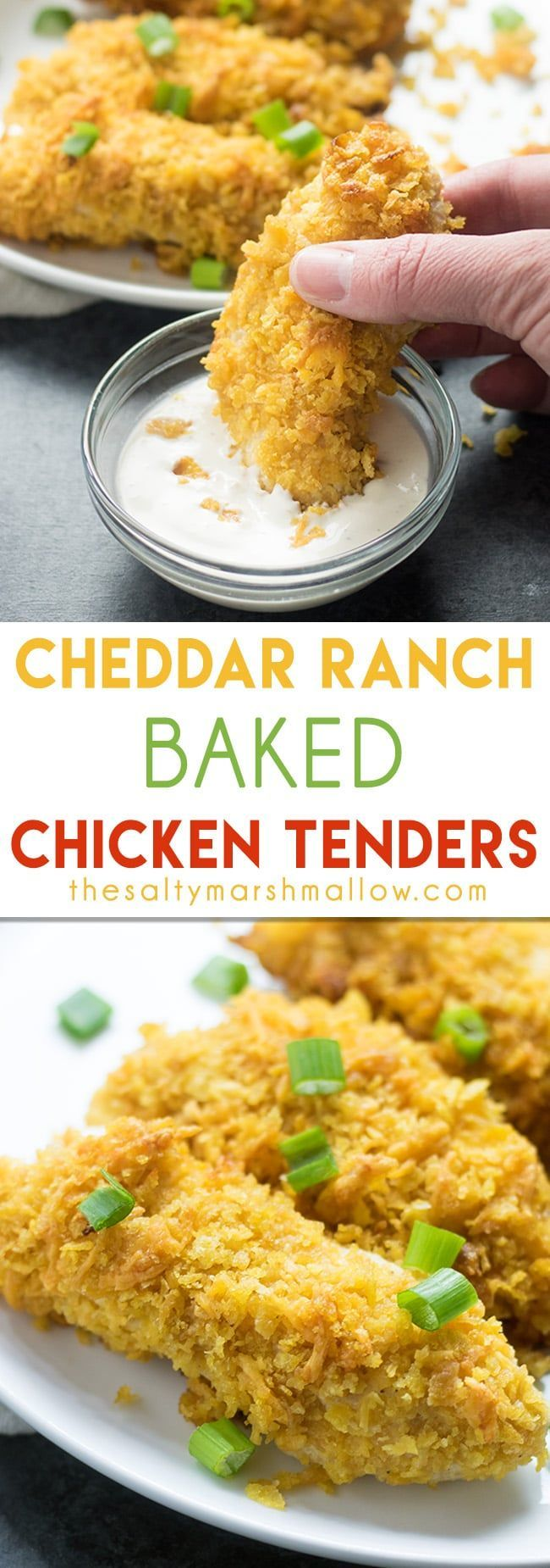 Cheddar Ranch Chicken Tenders are an easy dinner recipe, perfect for any weeknight! Ready to eat in 30 minutes. (Baked Chicken)