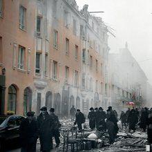 Lönnrotinkatu 33-35 / 7.2.1944 / Välirauhan aikana kunnostettu Lönnrotin- ja Abrahaminkadun kulmatalo tuhoutui jälleen helmikuussa 1944 ja lukuisia henkilöitä sai surmansa.