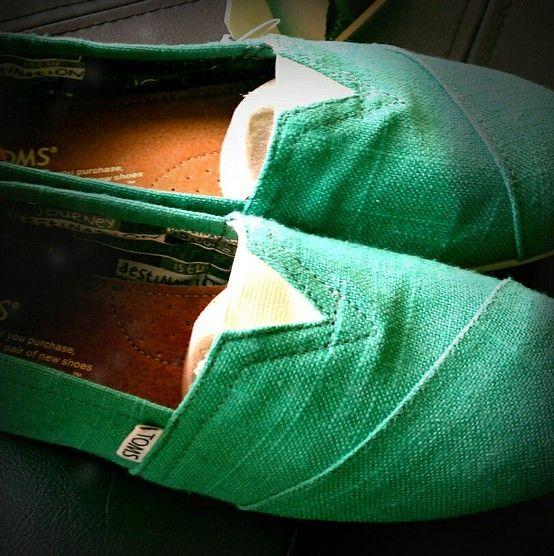 Green Toms by Adriana Dockery