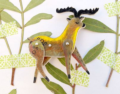 "Check out new work on my @Behance portfolio: ""Deer Brooch"" http://be.net/gallery/36963683/Deer-Brooch"