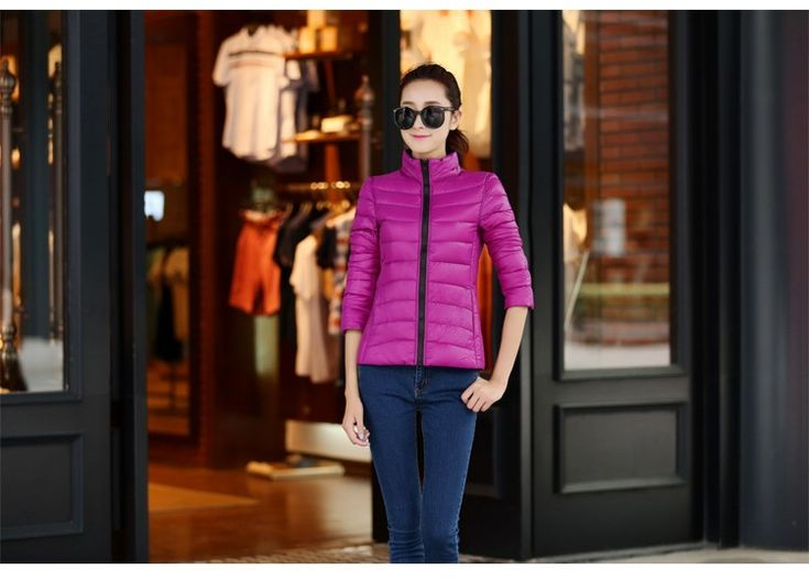 Nice Manteau Femme Stand Collar Slim Short White Duck Women Ultra Light Down Jacket Casual Padded Coat Chaqueta Mujer Giacca Donna