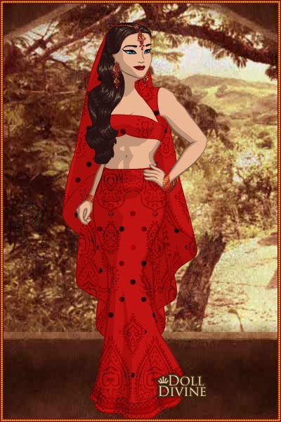 Princesa Gabriela en traje Árabe