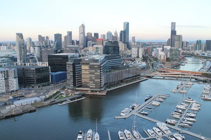 The view from Yarra Point in Docklands  http://urbanmelbourne.info/visual-melbourne/2013/05/04/lifes-good-at-the-top#content