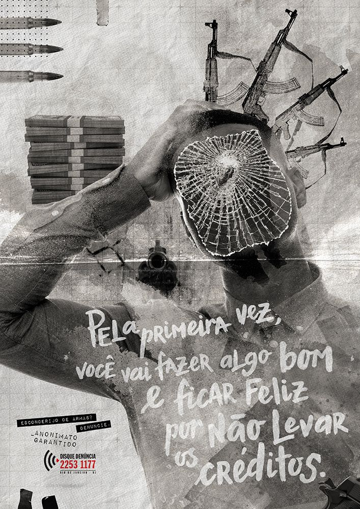 Posters Disque Denúncia - Thiago Bach | Creative Art Director