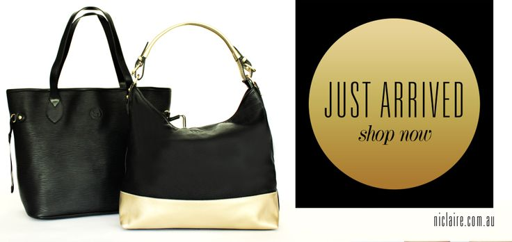 New arrivals! Amazing leather tote bags - shop now at niclaire.com.au #leather #handbag #genuineleather #niclaire #fashion #fashiondaily #black #gold #shoponline