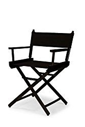 Telescope Casual Heritage Dining Height Director Chair, Black with Black Frame