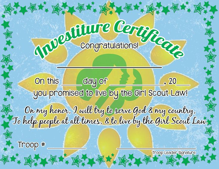 29 best images about Girl Scout certificates on Pinterest ...
