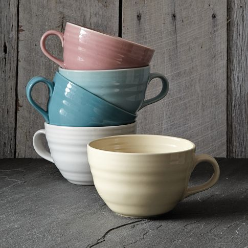 We want these for cappuccinos and yummy soups!     Crafted Oversized Mug | west elm
