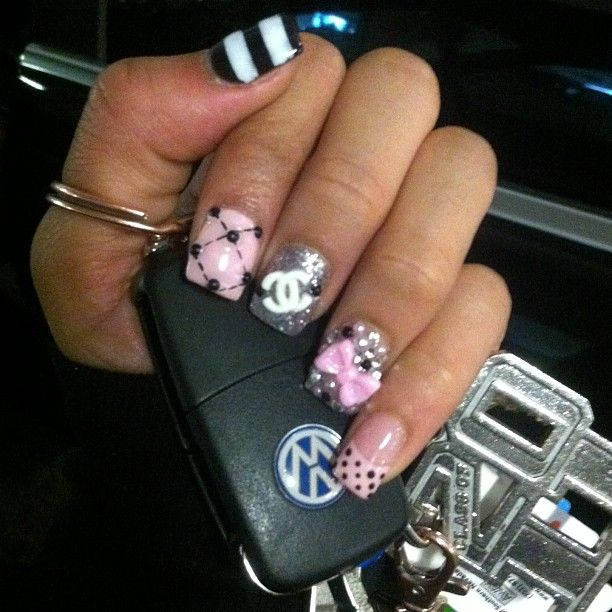 OBSESSED with my new Channel nails  #CCcertified - @essencetatiana- #webstagram