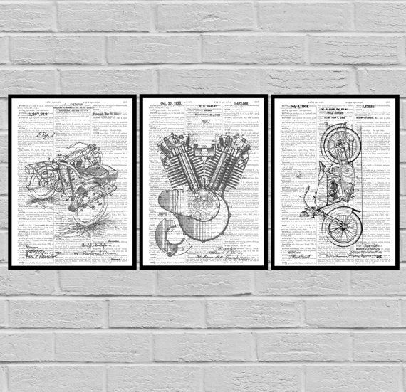 Harley Davidson Poster - motorcycle prints - Harley Poster - Harley Davidson Motorcycle - Harley Engine - Harley - Motorcycle by STANLEYprintHOUSE  7.50 USD  We use only top quality archival inks and heavyweight matte fine art papers and high end printers to produce a stunning quality print that's made to last.  Any of these posters will make a great affordable gift, or tie any room together.  Please choose between different sizes and col ..  https://www.etsy.com/ca/listing/4813666..