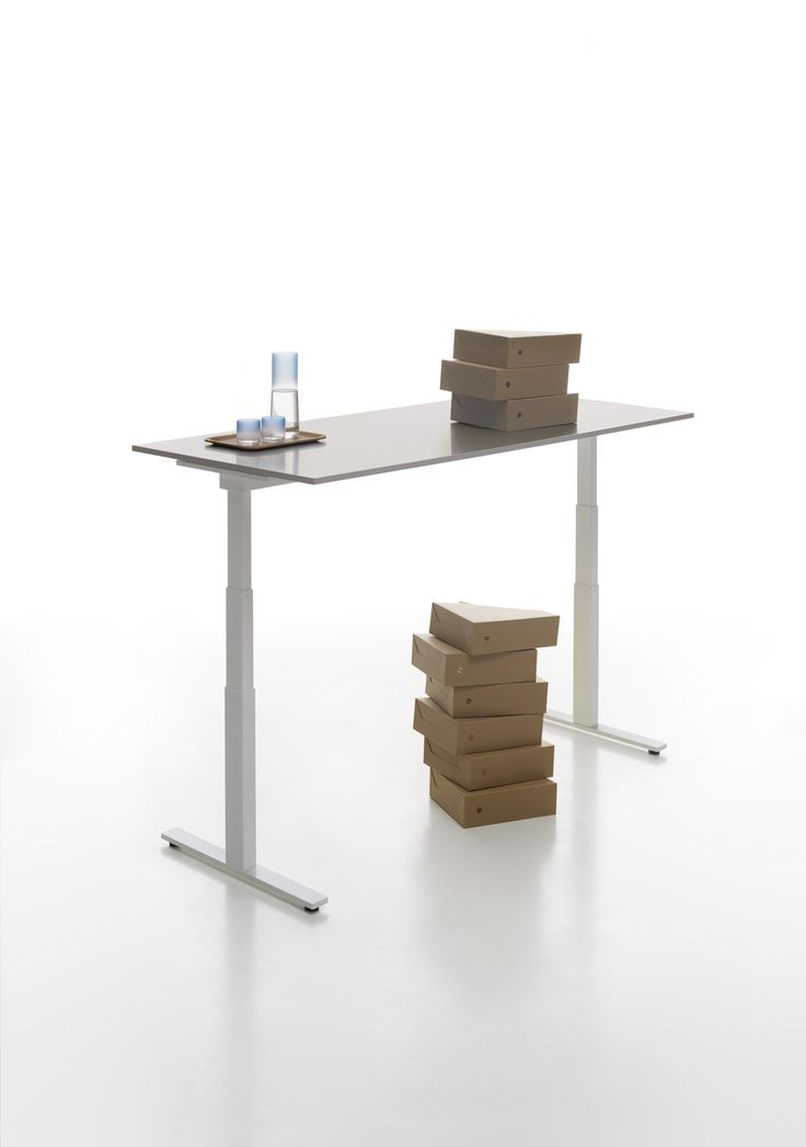 T-Leg desk system design by CMR with electric height adjustment