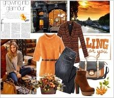 Zestaw ubrań soczysta, jesienna pomarańcza