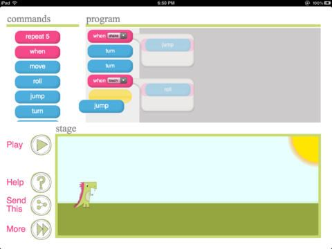 Daisy the Dinosaur - learn the basics of computer programming iPad app