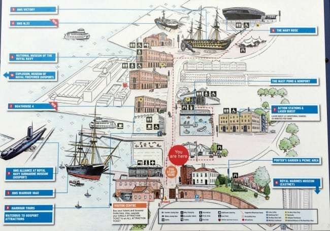 Map Of England Portsmouth.Spending A Day At Portsmouth Historic Dockyard Challenged