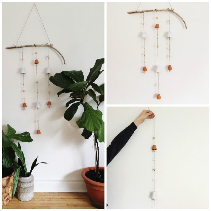 Learn how to make this beautiful, Scandinavian wind chime - www.rowhousenest.com