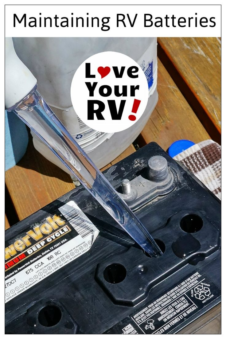 Maintaining and Testing my RV Lead Acid Batteries - http://www.loveyourrv.com/maintaining-and-testing-my-rv-batteries/ #RVing #Howto