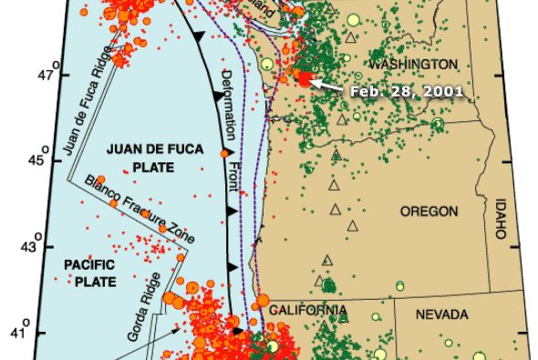 Intriguing Seismic Activity Along the Cascadia Subduction Zone:  go to youtube, BP Earthwatch video, BREAKING: 4ft. Drop off coast on 1/19/2016