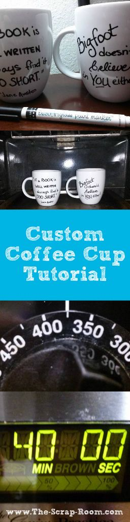 12 Coffee Mugs Perfect for Scrapbookers Plus a Tutorial to Make Your Own! Coffee and scrapbooking go hand-in-hand! So if you're looking for the perfect mug to add to your collection or buy for a friend, keep scrolling! These unique finds would make a great addition to any scrapbooker's collection! Of course you can always make your own too! Don't worry --We've got tips for that too!