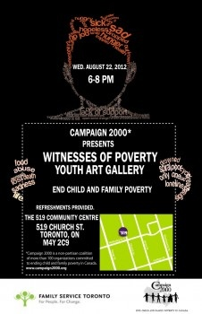Wellesley Institute | Ontario Campaign 2000's Witnesses of Poverty Youth Art Gallery