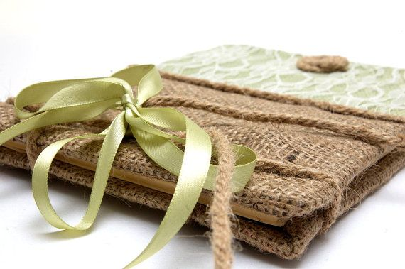 Guest Book with Burlap   Traditional Retro by LenaWeddings on Etsy,
