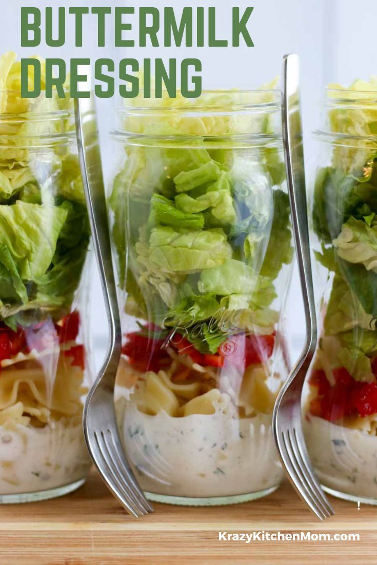 Buttermilk Salad Dressing Is Made With Buttermilk Sour Cream Herbs And Seasoning And A Touch Of Lemon Juice Buttermilk Salad Dressing Food Homemade Recipes