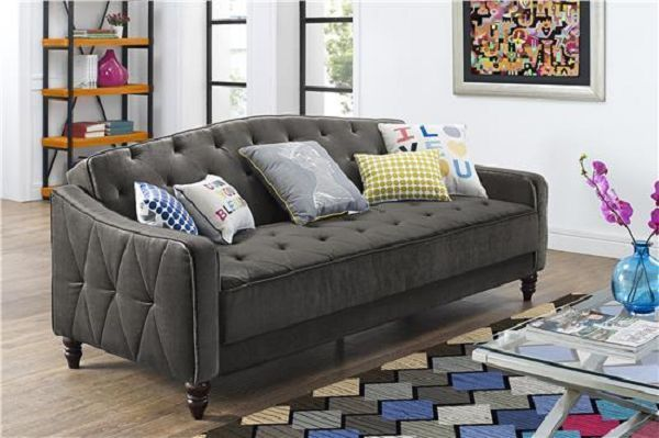 Victorian Style Sofa Bed Tufted Modern Full Living Room Furniture Loveseat Chair $510 on ebay