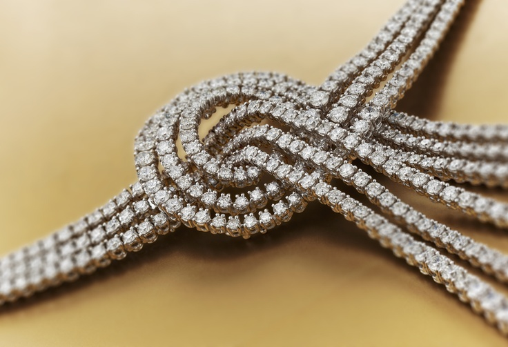Romy by #Chimento #Couture: white #gold #necklace with white #diamonds