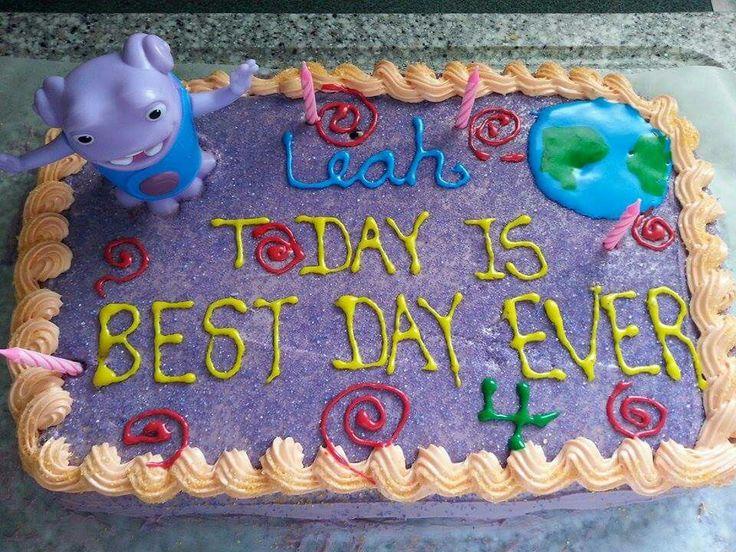 Homemade Decoration For Cake : homemade, DIY, home, home cartoon, Oh, O, Boov, Cake, cake ...