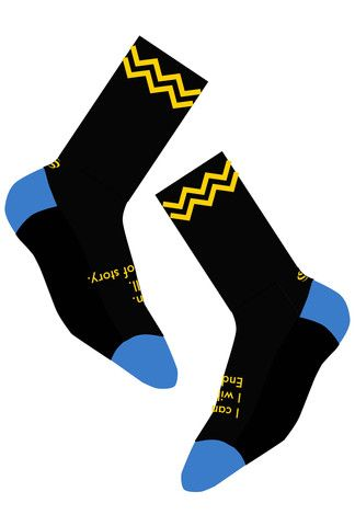 QUEEN OF THE MOUNTAIN 'luminary yellow' Socks