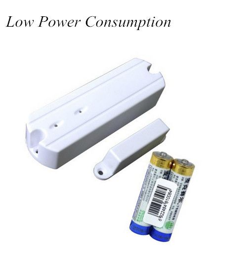 Energy Saving 433mHz  Wireless Door Contact  For GSM Alarm System Door Alarm Sensor