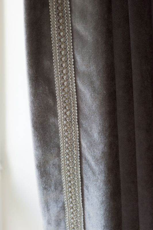 Luxurious ready made, French pleat curtains, with superior fleece lining. Includes co-ordinated braid and tiebacks.