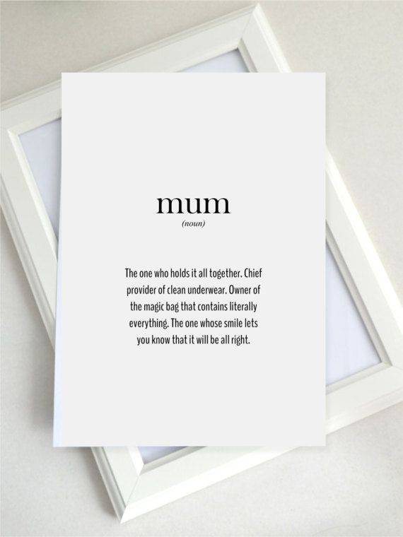 gift for mum, mum definition, new mum gift, mothers day gift, new mother, first mother's day, printable, wall art, UK