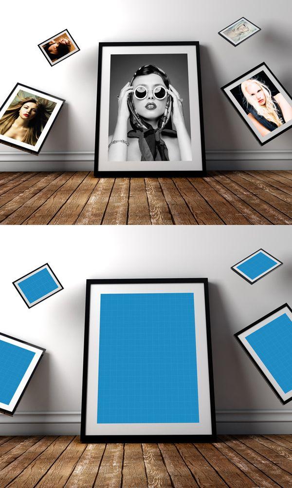 Free Photo Frame PSD Mockup #freepsdfiles #freepsdmockups #mockuptemplates