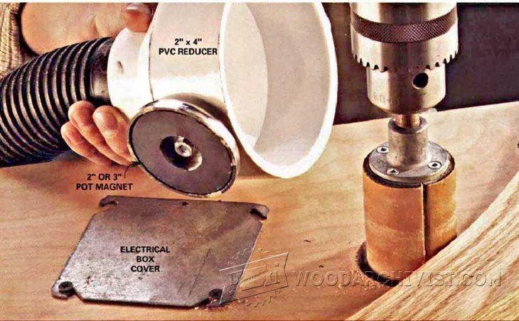 DIY Dust Catcher - Dust Collection Tips, Jigs and Fixtures   WoodArchivist.com