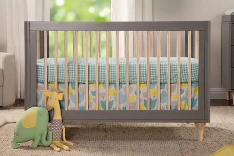 Babyletto Lolly 3-in-1 Convertible Crib Grey with Washed Natural Delight in the playful joy of the Lolly 3-in-1 Convertible Crib! With natural spindles, gently curved corners, and delicate natural feet, the Lolly is a clever choice for the modern nursery. Lolly features hidden hardware construction, eco-friendly materials and finishes, and includes a toddler rail for later conversion.