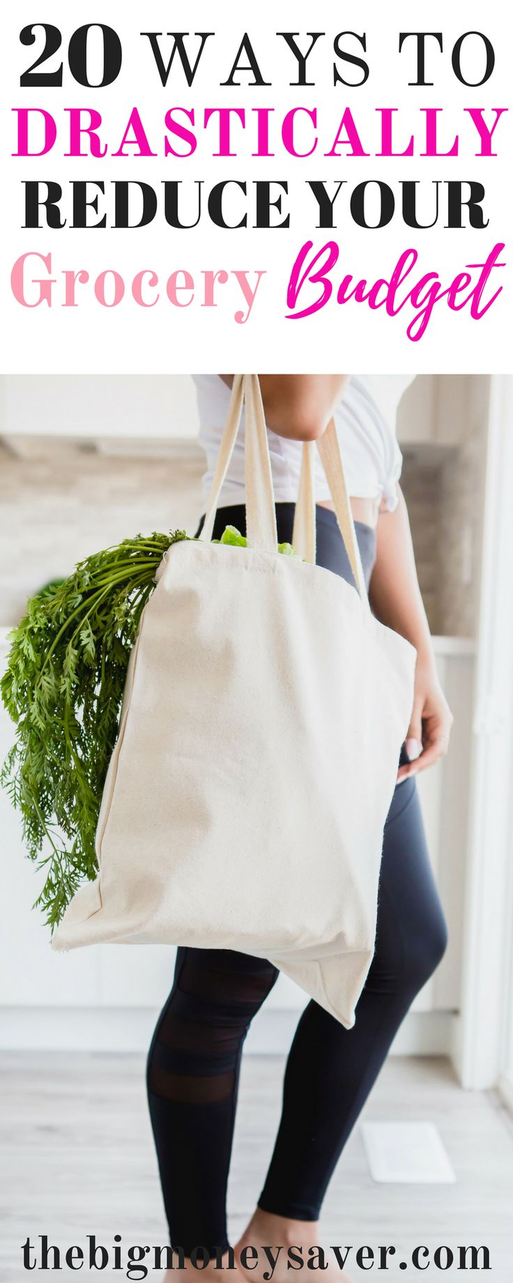 20 WAYS TO DRASTICALLY REDUCE YOUR GROCERY BUDGET- This is great!! If you're having trouble affording groceries, you'll want to read this! She teaches you how to save money on groceries with 20 ways to drastically reduce your grocery budget! How to save money on groceries. Spending less on groceries. Groceries on a budget. via @thebigmoneysaver