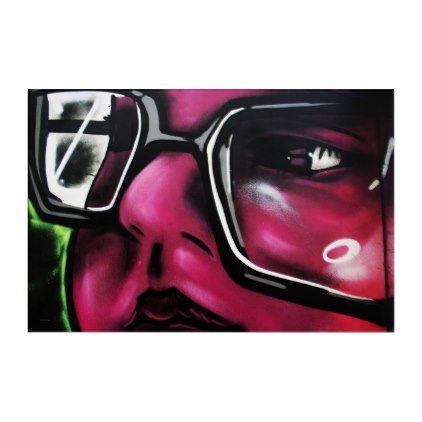 Graffiti 5 36x24 Ratio Acrylic Panel Acrylic Print - black gifts unique cool diy customize personalize