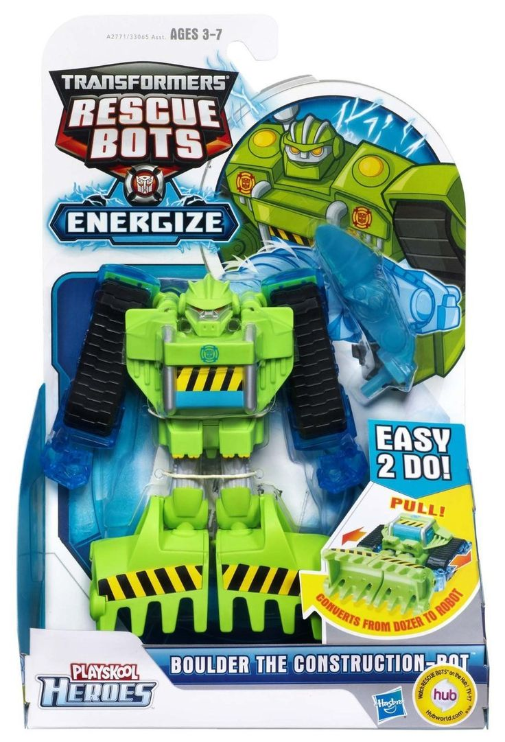 PLAYSKOOL Heroes Transformers Rescue Bots Boulder the Construction-Bot Figure - Discount Toys USA