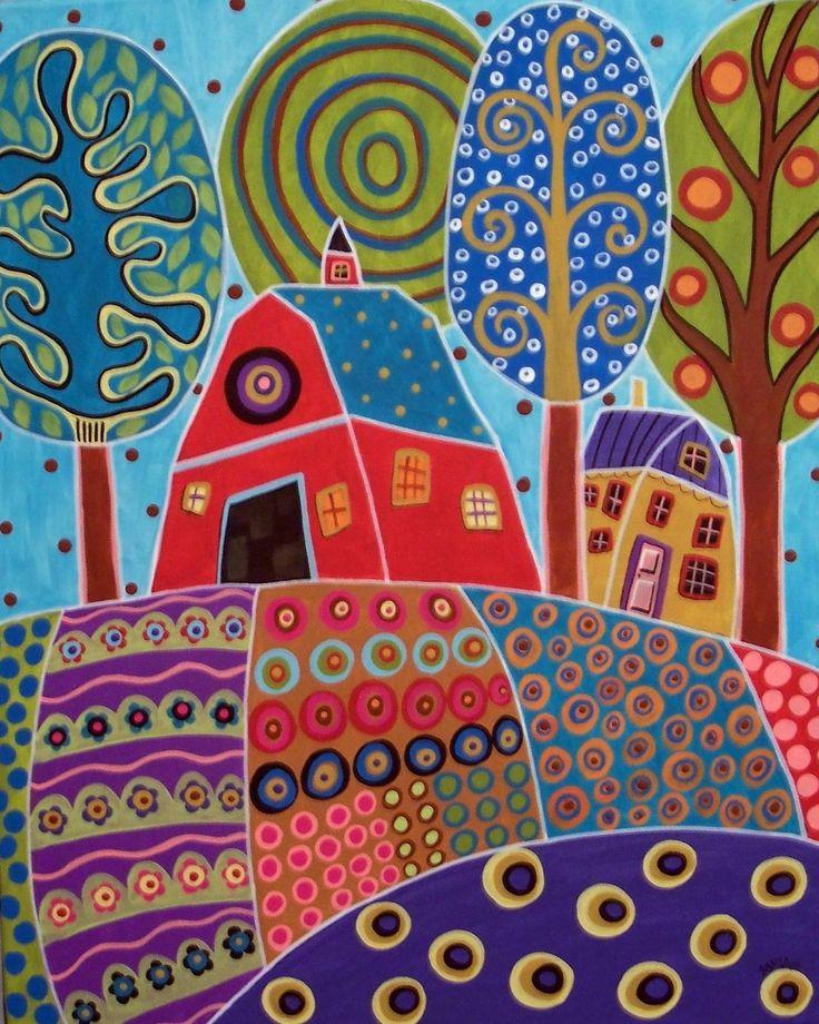 karla gerard art: houses