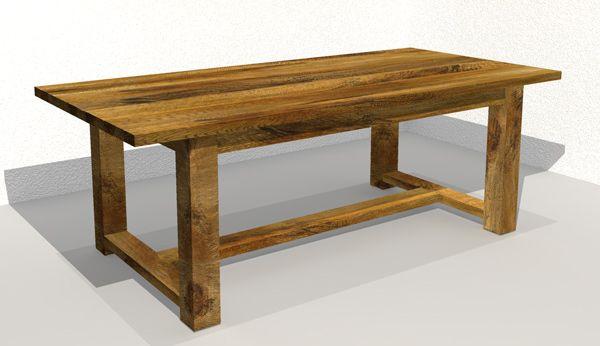 houten tafel eiken kloostertafel