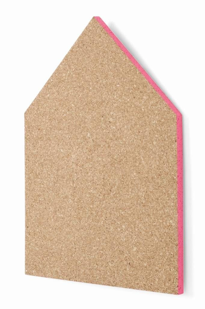 Ferm Living Prikbord kurk roze 40x55cm, Pin Board large neon pink
