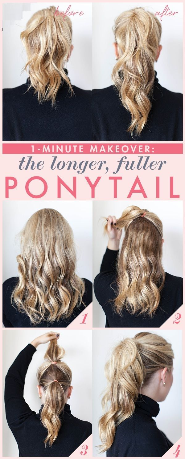Get Longer Fuller Ponytail in One Minute At Home|DIY Hair Tips and Tricks | DIY Beauty Fashion