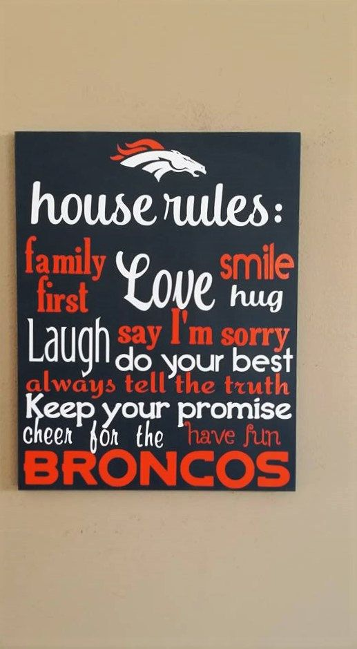 Denver Broncos Dallas Cowboys House Rules by WordArtTreasures