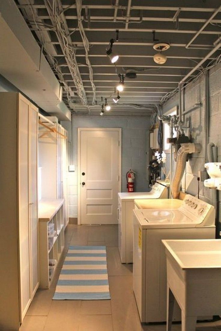 15 amazing useful unfinished and finished basement laundry room ideas for great makeovers