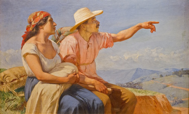 'Horizontes' by Colombian painter Francisco Antonio Cano, exhibited in the Museo de Antioquia, Medellín, Colombia.