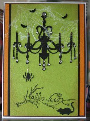 Cricut Halloween Chandelier Card. Home Decor Cartridge.  *