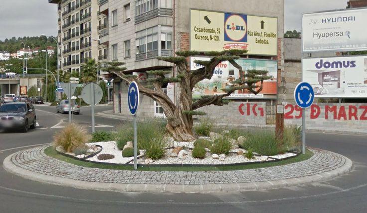 Rotonda del bonsái gigante (Orense)